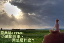 言靈奧祕EP263﹕小威問洞主,冥想是什麼?(嘉賓﹕威﹑SIMON洞主)